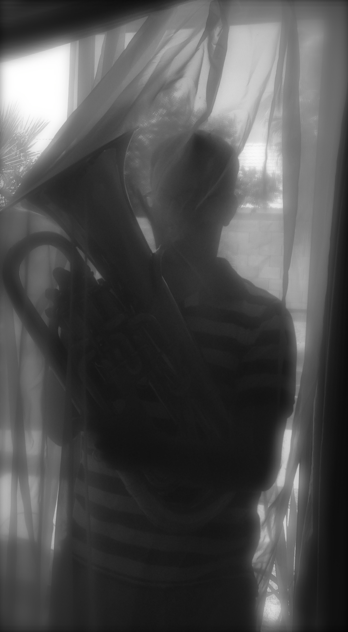 I PLAY EUPHONIUM behind curtains